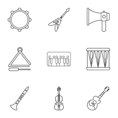 Euphony game icons set. Outline set of 9 euphony game vector icons for web isolated on white background