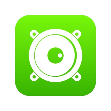 Audio speaker icon digital green for any design isolated on white vector illustration