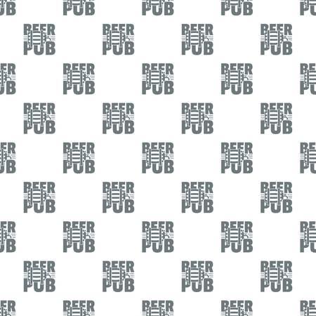 Beer pub pattern vector seamless Ilustrace