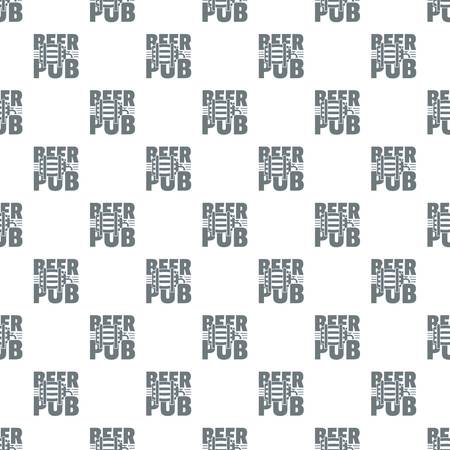 Beer pub pattern vector seamless Illustration