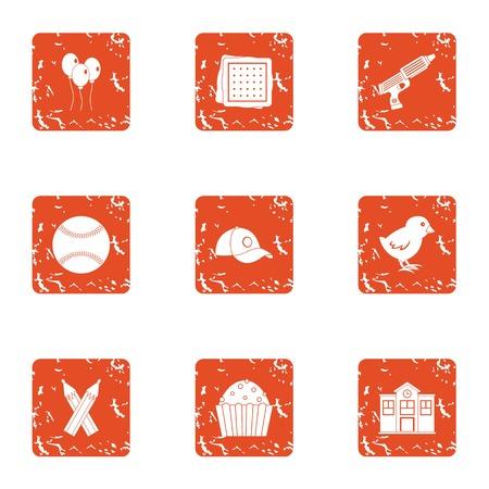 Pupillary icons set. Grunge set of 9 pupillary vector icons for web isolated on white background