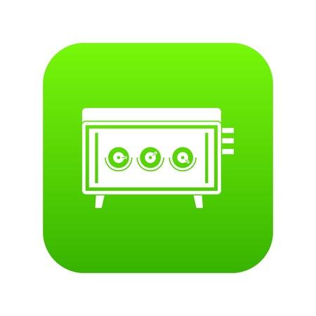 CD changer icon digital green for any design isolated on white vector illustration Illustration