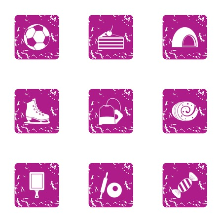 Encouraging icons set. Grunge set of 9 encouraging vector icons for web isolated on white background Иллюстрация