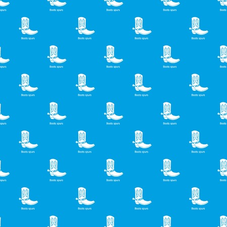 Boot spurs pattern vector seamless blue repeat for any use