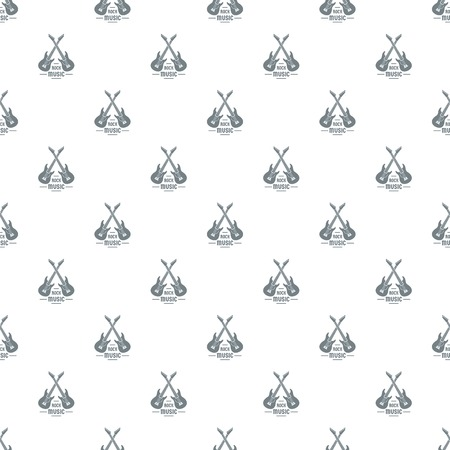 Electric guitar pattern vector seamless