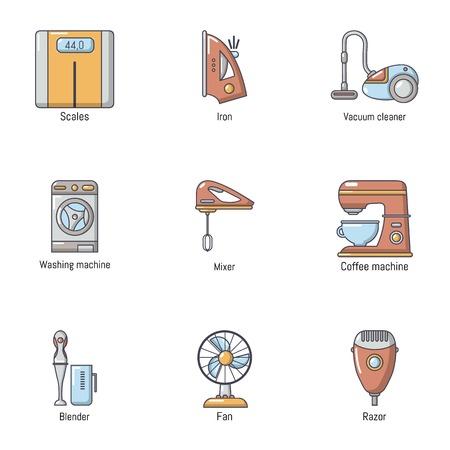 Scavenge day icons set. Cartoon set of 9 scavenge day vector icons for web isolated on white background Ilustrace