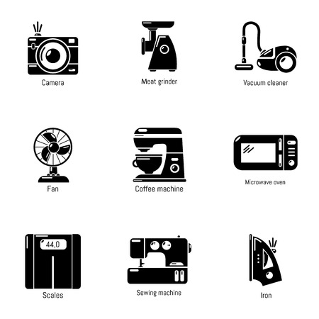 Women factory icons set. Simple set of 9 women factory vector icons for web isolated on white background