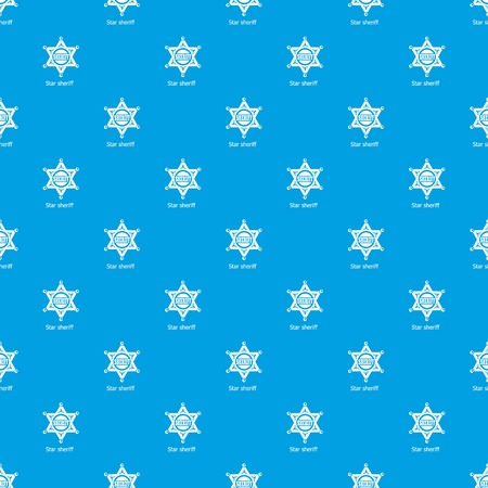 Star sheriff pattern vector seamless blue repeat for any use