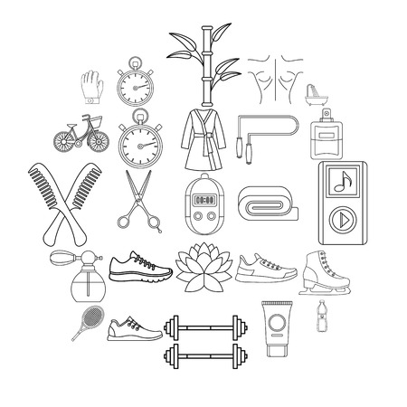 Soundness icons set. Outline set of 25 soundness vector icons for web isolated on white background