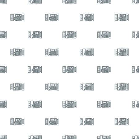 Accordion pattern vector seamless Ilustração
