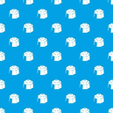 Hexagonal tent pattern vector seamless blue repeat for any use