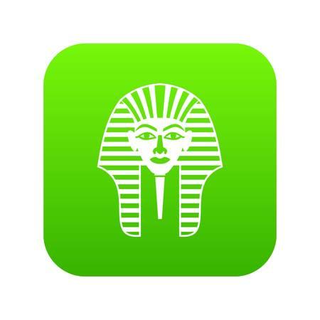 Tutankhamen mask icon digital green for any design isolated on white vector illustration Illustration