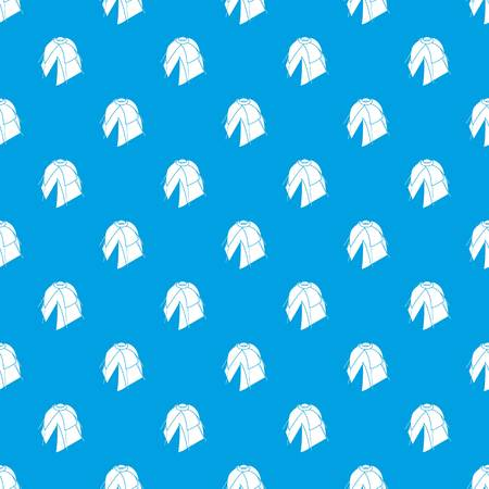 Flower tent pattern vector seamless blue repeat for any use Vectores