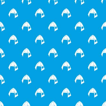 Tribal tent pattern vector seamless blue repeat for any use