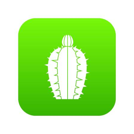 Blooming cactus icon digital green for any design isolated on white vector illustration