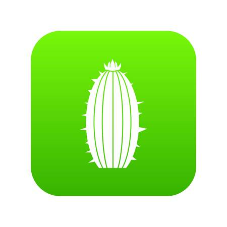 Mammillaria bocasana icon digital green for any design isolated on white vector illustration