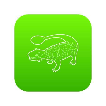 Scolosaurus icon green vector