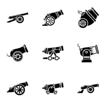 Salvo icons set. Simple set of 9 salvo vector icons for web isolated on white background