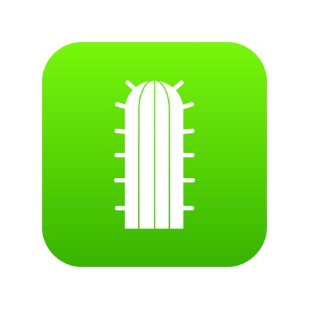 Cereus Candicans cactus icon digital green for any design isolated on white vector illustration