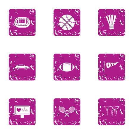 Dressage icons set. Grunge set of 9 dressage vector icons for web isolated on white background