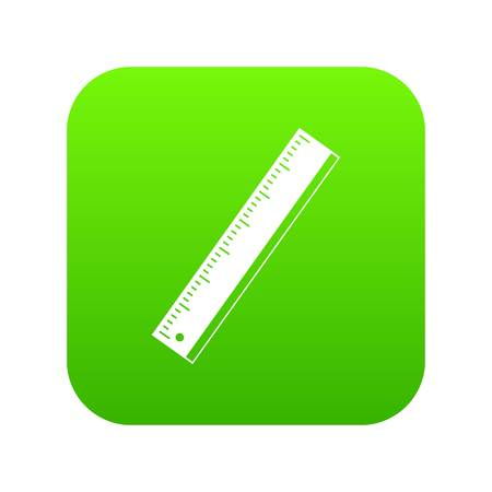 Yardstick icon digital green for any design isolated on white vector illustration Иллюстрация