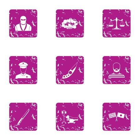 Friendship of nations icons set. Grunge set of 9 friendship of nations vector icons for web isolated on white background Ilustração
