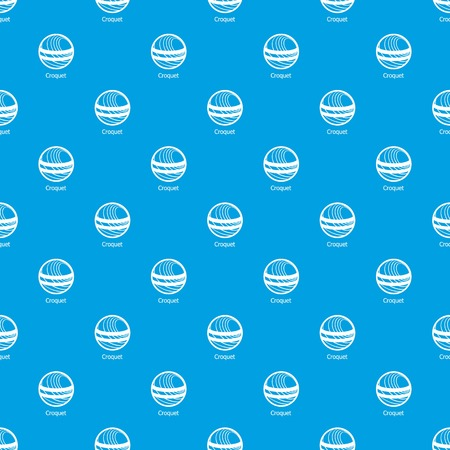 Croquet pattern vector seamless blue repeat for any use