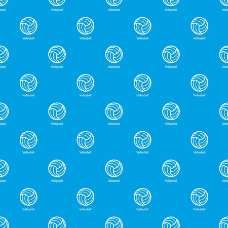 Volleyball pattern vector seamless blue repeat for any use