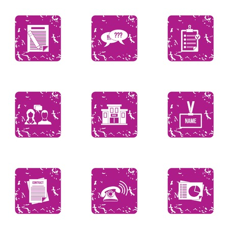 Online translation icons set. Grunge set of 9 online translation vector icons for web isolated on white background