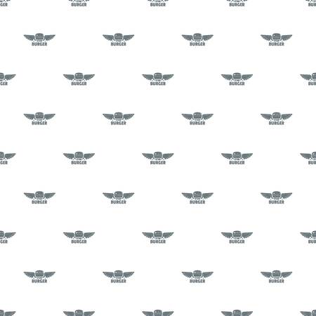 Element burger pattern vector seamless