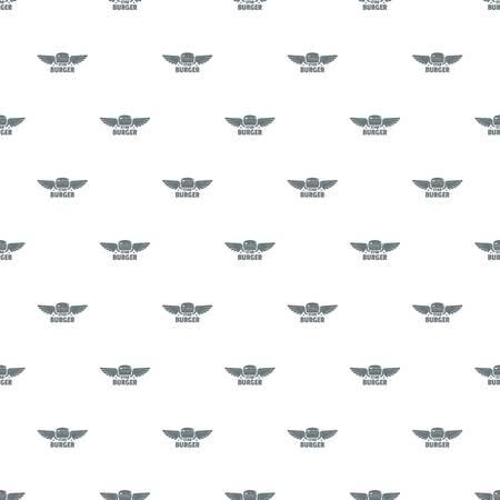 Element burger pattern vector seamless