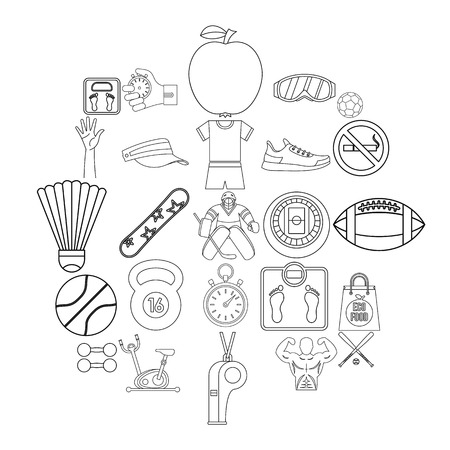 Vitality icons set. Outline set of 25 vitality vector icons for web isolated on white background 일러스트