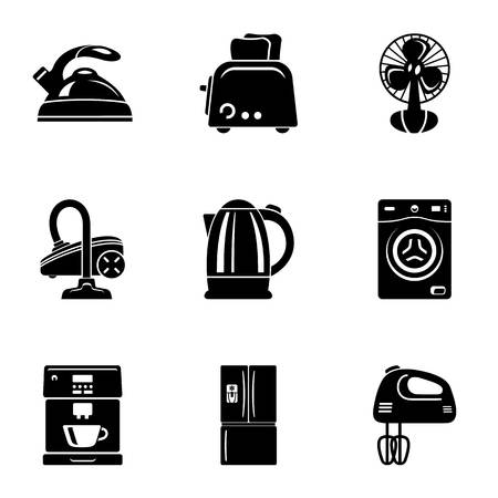 Kitchenette icons set. Simple set of 9 kitchenette vector icons for web isolated on white background