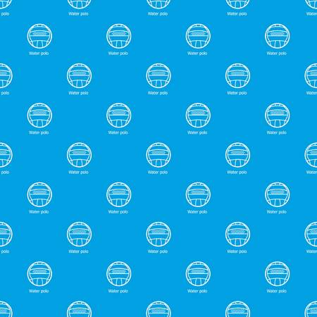 Water polo pattern vector seamless blue repeat for any use