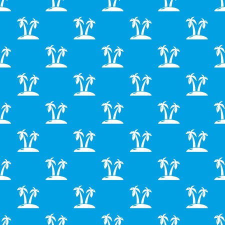 Tropical island pattern vector seamless blue repeat for any use