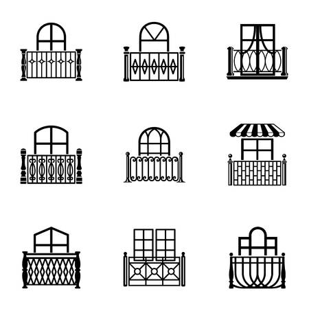 Clearance icons set, simple style