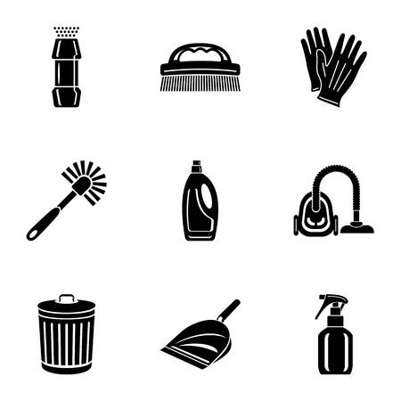 Sweep icons set. Simple set of 9 sweep vector icons for web isolated on white background