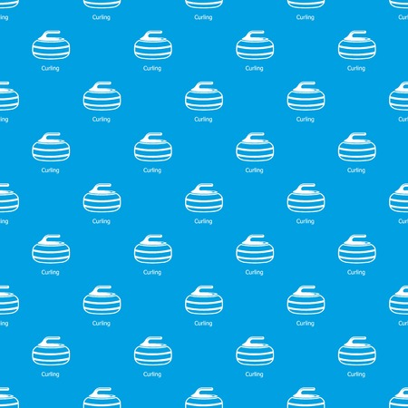 Curling pattern vector seamless blue repeat for any use