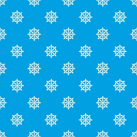 Handwheel pattern vector seamless blue