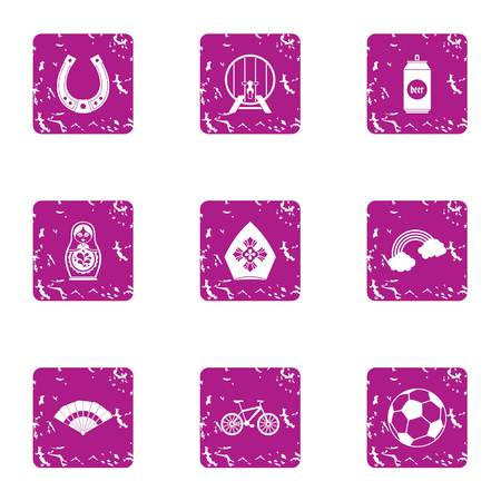 Sip icons set. Grunge set of 9 sip vector icons for web isolated on white background Иллюстрация