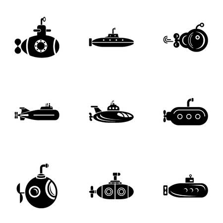 Underwater day icons set. Simple set of 9 underwater day vector icons for web isolated on white background