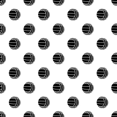 Modern volleyball pattern vector seamless repeating for any web design Illustration