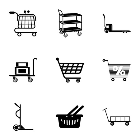 Carry the goods icons set. Simple set of 9 carry the goods vector icons for web isolated on white background