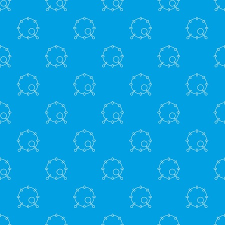 Drum pattern vector seamless blue
