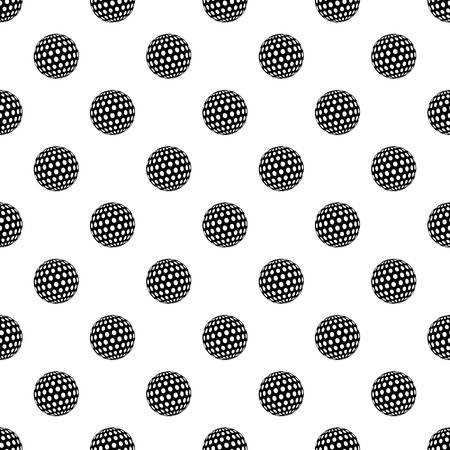 Golf ball pattern vector seamless repeating for any web design
