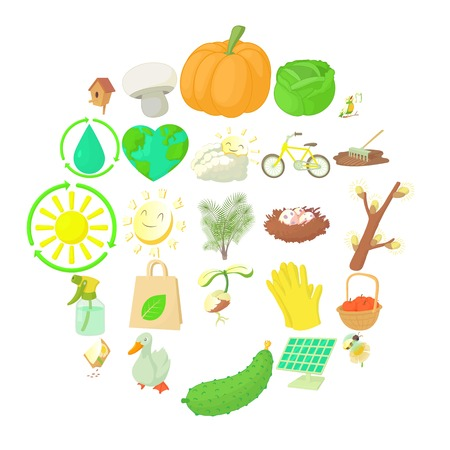 Horticulture icons set. Cartoon set of 25 horticulture vector icons for web isolated on white background