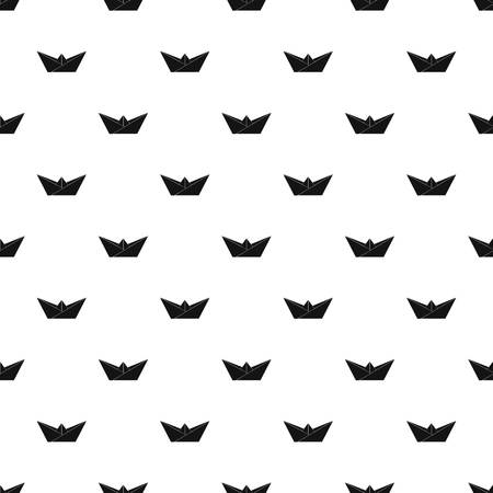 Origami boat pattern vector seamless repeating for any web design