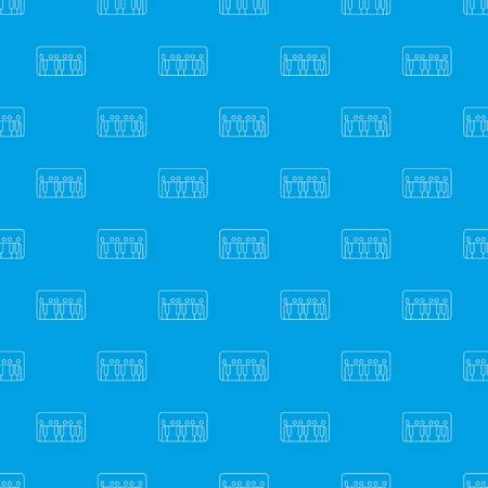 Synthesizer piano pattern vector seamless blue