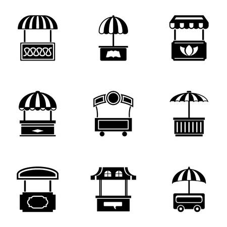 Trading tent icons set. Simple set of 9 trading tent vector icons for web isolated on white background