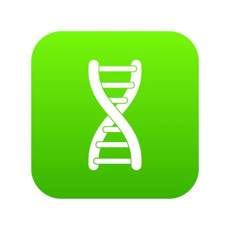 DNA strand icon digital green for any design isolated on white vector illustration